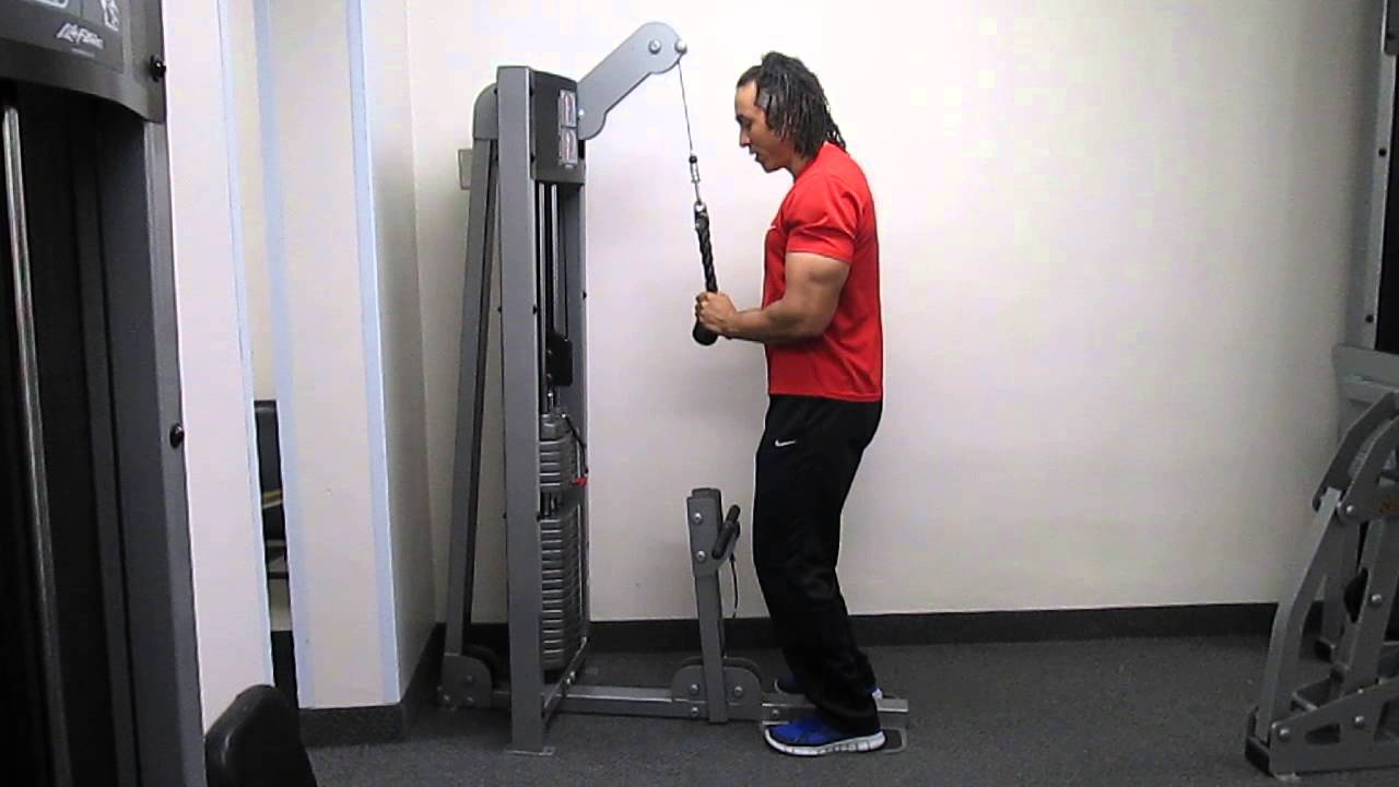 Tricep Pushdown Machine How to Use The Tricep Pushdown