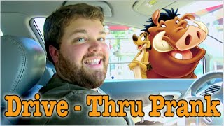 Timon and Pumbaa at the Drive Thru - Impression Prank