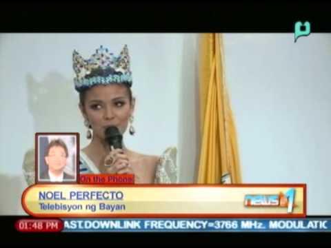 News@1: Ms. World 2013 Megan Young, bumisita sa PhilPost || Mar. 24, '14