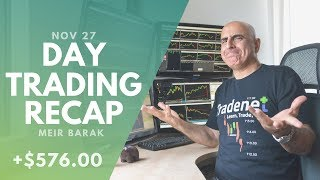 Day Trading Recap, Nov 27: Slow Market, Small Green Day…