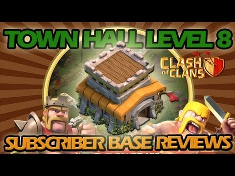 Clash of Clans: Subscriber Base Reviews and Analysis #2 - Dual-Com Town Hall Level 8 Bases!!