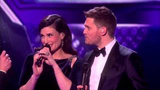 Mel B Cheryl Snub Idina Menzel Michael Buble Live Xfac