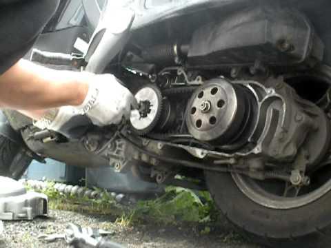 Drive belt and variator fan change. - YouTube