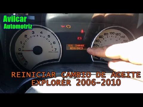 Oil change required reiniciar en ford explorer 2006 2007 2008 2009 2010 avilcar