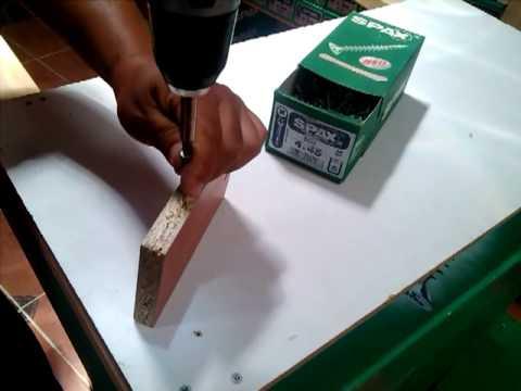 spax para madera, melamina y aglomerado