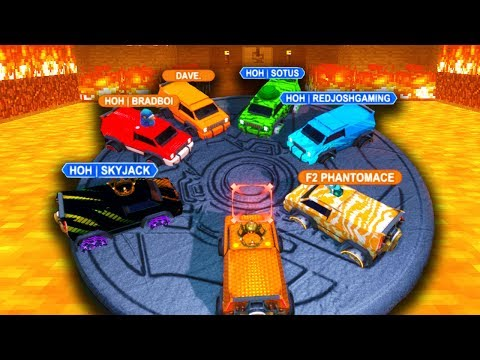 THE FLOOR IS LAVA!  FUN ROCKET LEAGUE MODES!