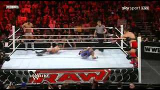 WWE Raw 3/21/11 Marella-Kozlov vs The Core