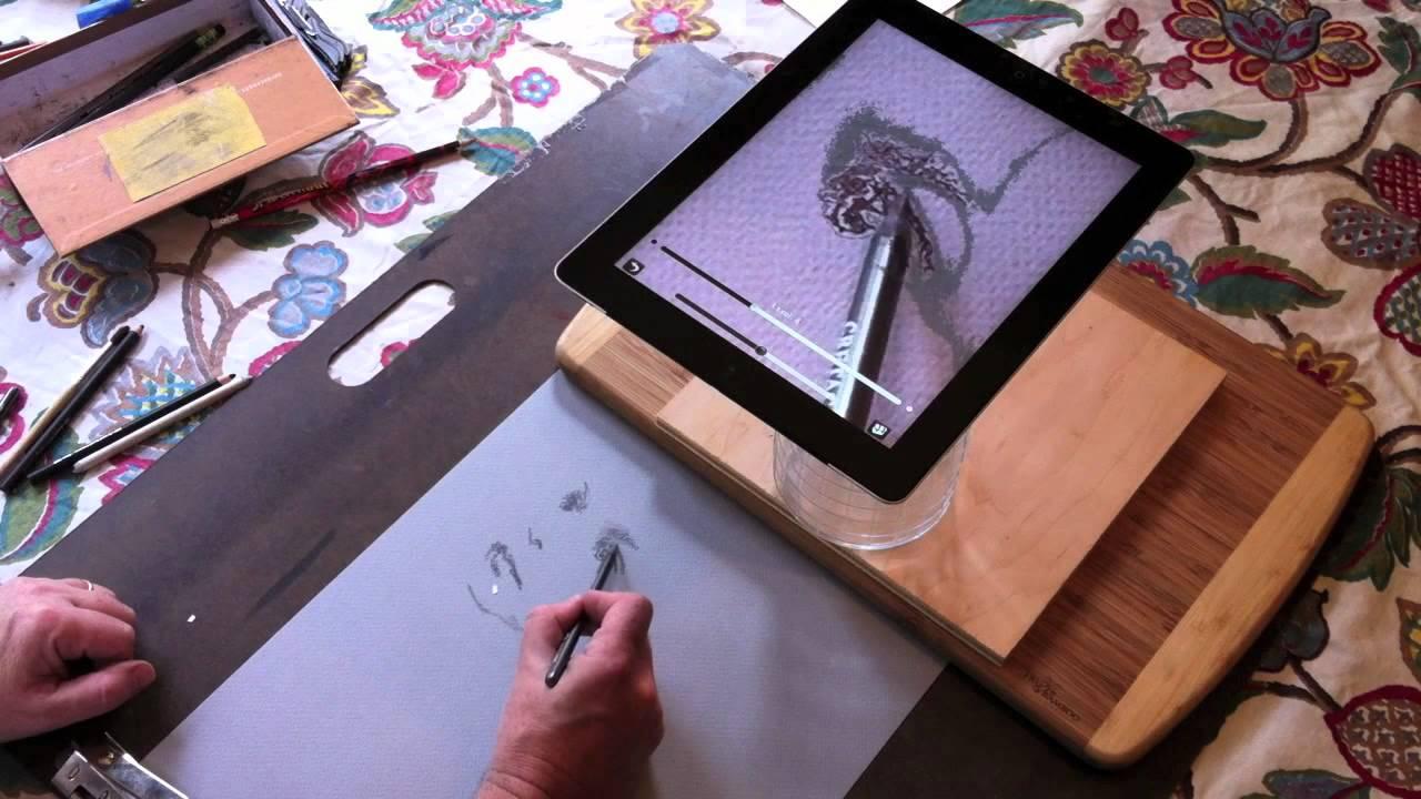 Camera Lucida iPad App Demo - Graphite Portrait - YouTube