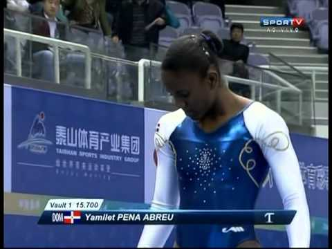 Yamilet Pena Abreu (Dominican Republic) Qualification - Vault (2012 Zibo World Cup