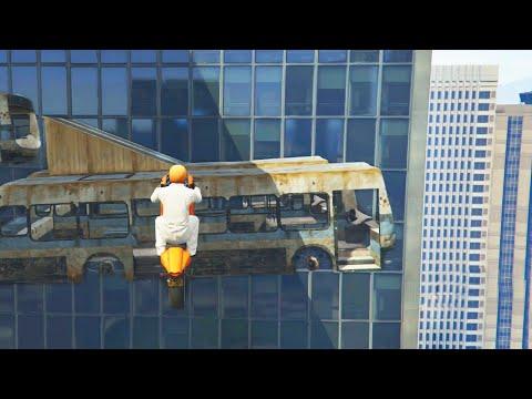 INSANE FLOATING BUS RACE (GTA 5 Funny Moments)