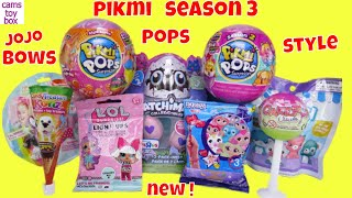 Pikmi POPS Season 3 LOL Surprise Fingerlings Blind Bags Opening Toy Surprises Unboxing Style