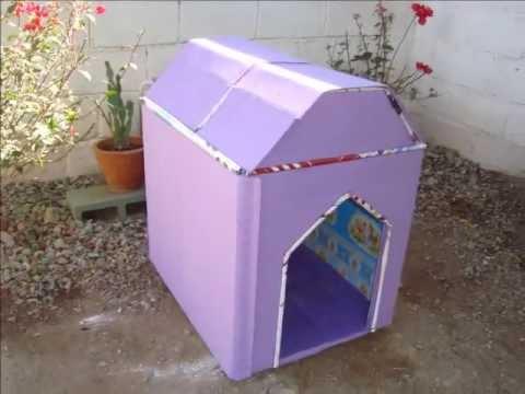 Como hacer casas para perros recicladas