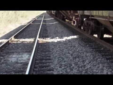 """My Shreveport, Louisiana grain shuttle train finally rolled in! (""""KCS"""