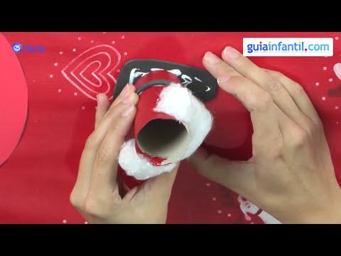 Papá Noel. Manualidades de reciclaje