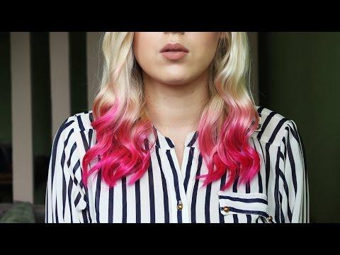 DIY Jak Zrobić Różowe Ombre - Kolorowe Końcówki Włosów Na Lato!