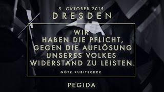 PEGIDA - Rede von Götz Kubitschek am 5. Oktober 2015 in Dresden