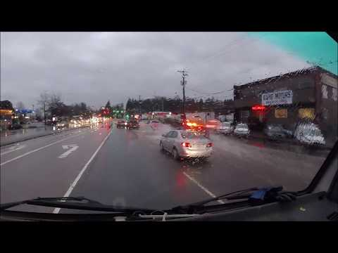 Police Car Chase On Flooded Road