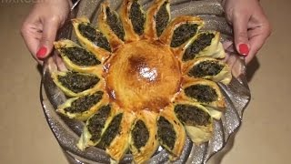 Spinach Pie Recipe - How to make a Sun Shaped Pie