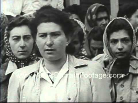 Belsen Nazi Concentration Camp Footage - stock footage - www.PublicDomainFootage.com