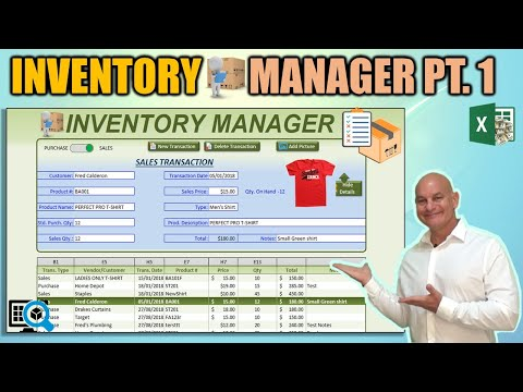 Create This AMAZING Excel Application that Tracks Purchases, Sales AND Inventory [Part 1]