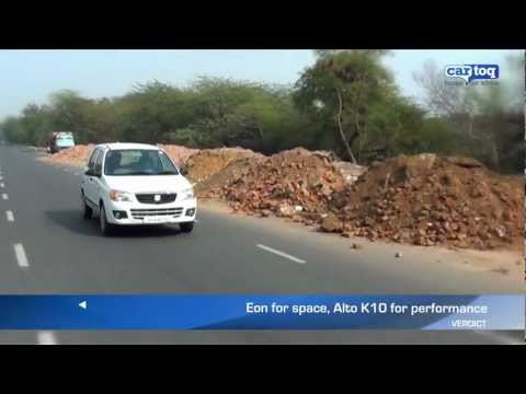 Hyundai EON vs Maruti Suzuki Alto K10 video comparison by CarToq.com