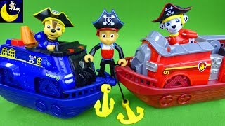 Paw Patrol Marshall and Chase Pirate Ship Boat Vehicles Pirate Air Patroller Robo Dog Ryder Kid Toys