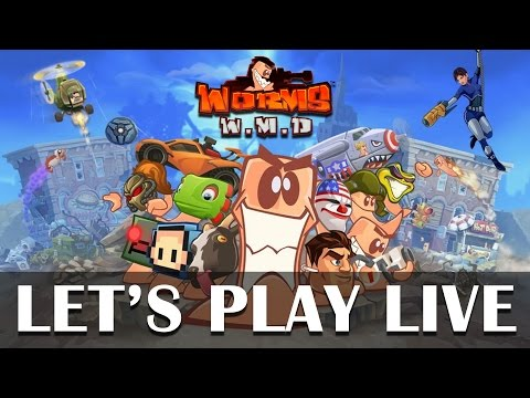 Multiplayer mayhem with Worms W.M.D PS4 gameplay!