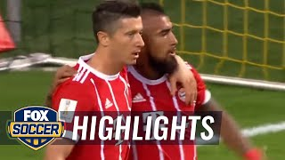Robert Lewandowski taps in the equalizing goal vs. Dortmund | 2017 German Super Cup Highlights