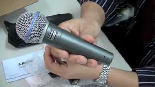 Shure BETA 58A Vocal Microphone Unboxing