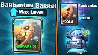 FULLY MAXED BARBARIAN BARREL UPGRADE! | Clash Royale | BIG NEW CHEST OPENING SPREE!!