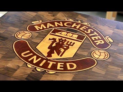 "Торцева� разделочна� до�ка � логотипом ""Манче�тер Юнайтед"""