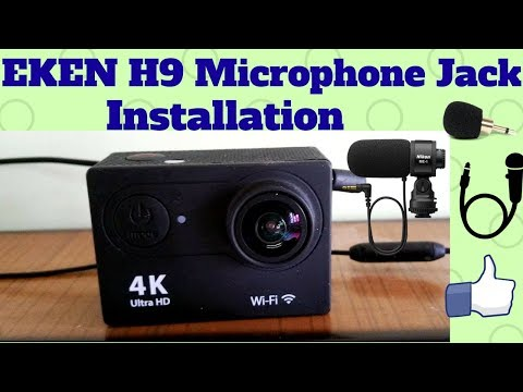 Installing 3.5mm Plug And Play Microphone jack in Eken H9 Action Camera!Easiest Method!