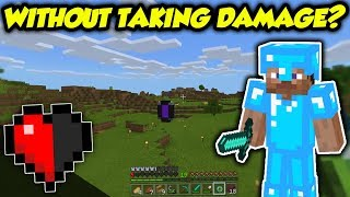 TESTED: Can You Beat Minecraft Without ANY DAMAGE?