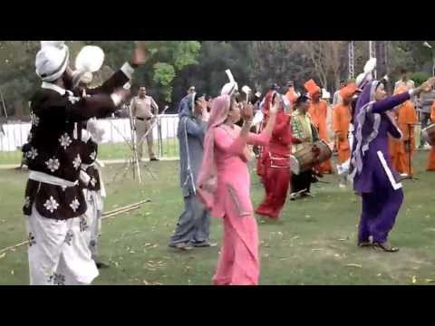 Bhangra and Giddha dance performances by Punjabi dancers during...