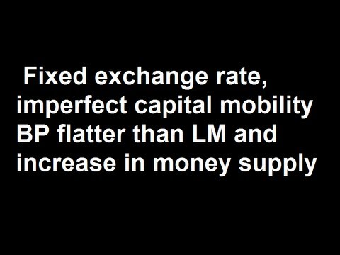 Fixed exchange rate, imperfect capital mobility BP flatter than LM and increase in money supply