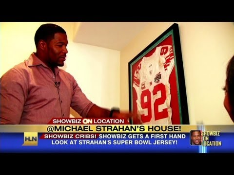 Michael Strahan takes Showbiz Tonight on a tour of his home
