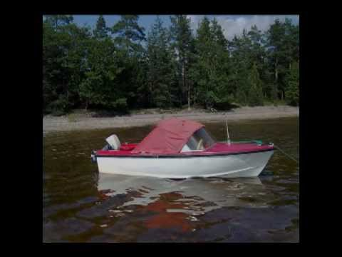 Evinrude 6hp Fisherman&Ockelbo Folka 14 Tour lake Saimaa Finland summer 2011