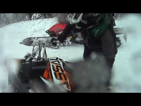 2013 Polaris 800 Switchback Assault Snowmobile Rollover