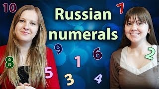 #6 Russian numerals 1 - 10 / Russian numbers / How to count in Russian - русские числа, числительные