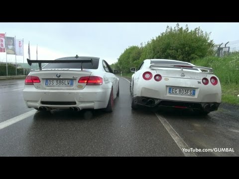 VERY LOUD Meisterschaft Nissan R35 GT-R vs BMW E92 M3 w/ F1 SuperSprint Exhaust!