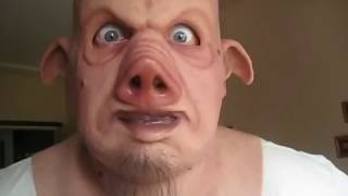 My CFX Pervis the pig silicone mask : test video