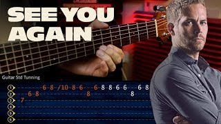 See You Again - Wiz Khalifa FAST AND FURIOUS Guitar Tutorial TABS | Cover Guitarra Christianvib