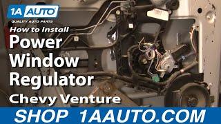 How To Install Replace Power Window Regulator Chevy Venture Pontiac Montana 97-05 1AAuto.com