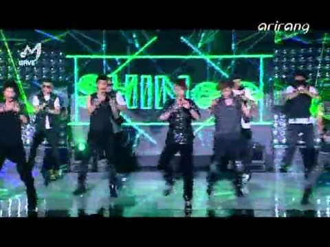 100829 SHINee - Lucifer @ ArirangTV The M Wave Music Videos