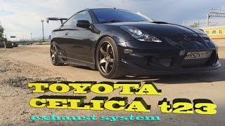 Welding exhaust with Helmholtz resonator for  Toyota Celica T23