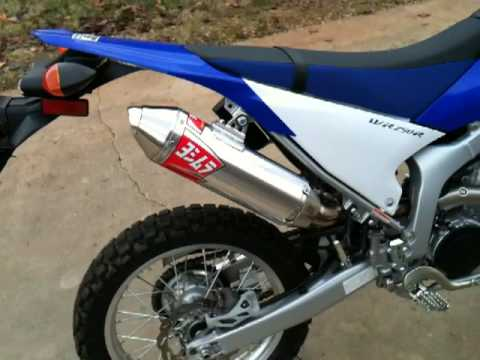 WR250R with Yoshimura RS2 exhaust  pipe muffler