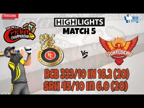 W.C.C.2 __(RCB vs SRH) | IPL | MATCH 5 | Highlights