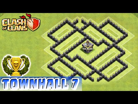 Clash of Clans - DEFENSE STRATEGY - Townhall Level 7 Farming (CoC TH7 Defensive Strategy)