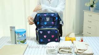 diaper bag backpack for mom and dad