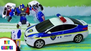 Hello Carbot Avante Pron Police Robot to Car | 헬로카봇 아반떼 프론 폴리스 | ToysReview ToyCampus